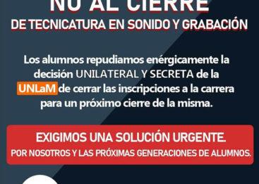 Estudiantes luchan contra el cierre de carrera técnica en la Universidad Nacional de La Matanza