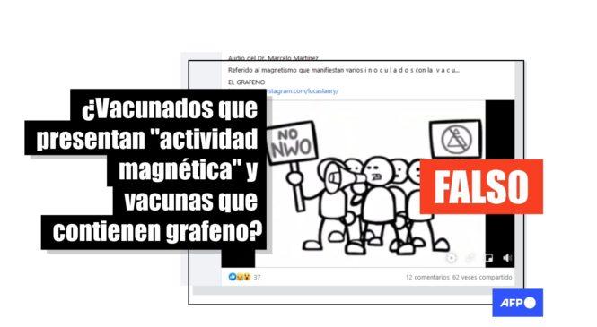 Grafeno, 5G y actividad magnética: desinformación en un audio de Luis Marcelo Martínez