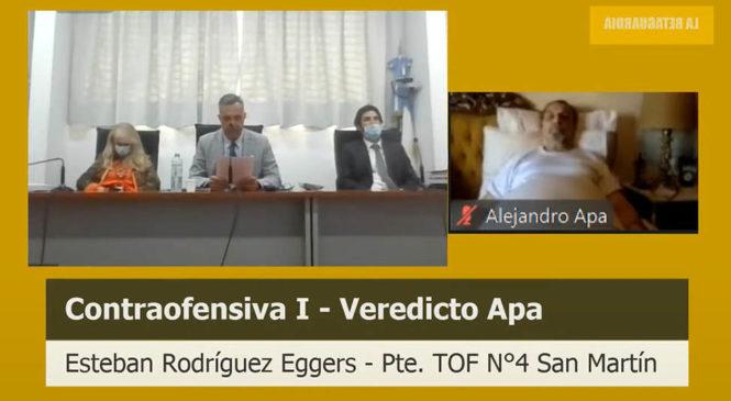 Juicio Contraofensiva: la junta médica constató la simulación y el represor Apa fue condenado a prisión perpetua