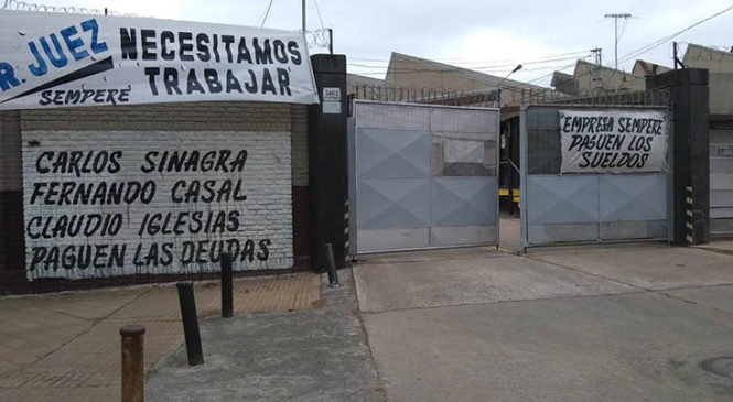 Quilmes: Trabajadores de la metalúrgica Sempere tomaron la fábrica en reclamo por sueldos adeudados
