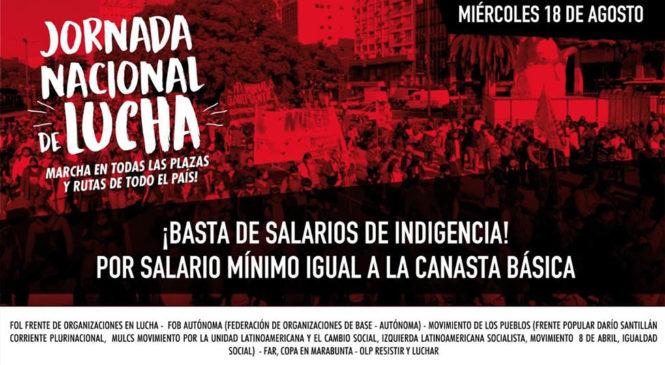 Jornada nacional por el fin de los salarios de indigencia