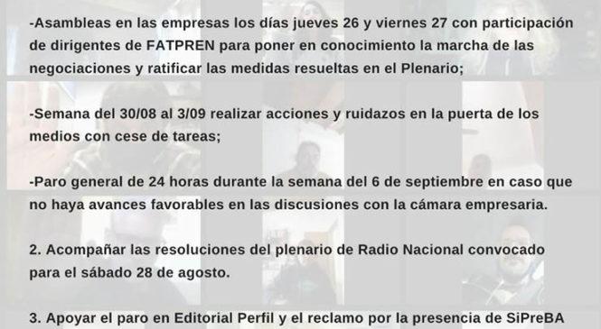 Resoluciones del Plenario de Secretarixs y delegadxs de base de prensa