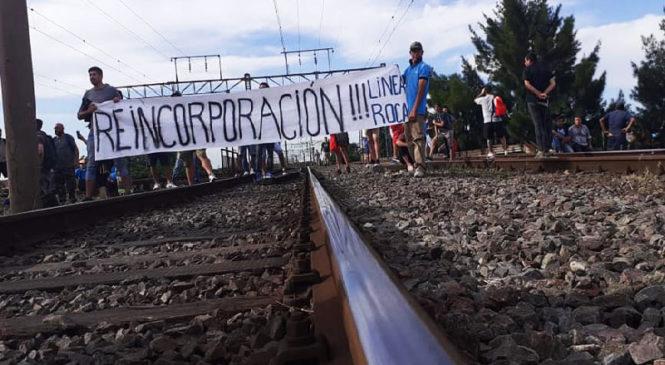 Ferroviarios despedidos realizan protesta para ser reincorporados