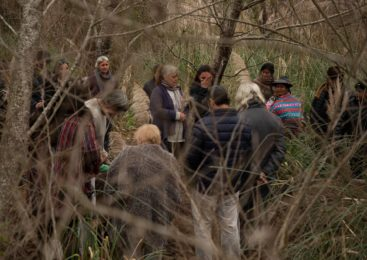 Histórico reentierro en Punta Querandí: un ancestro volvió a su lugar después de 30 años