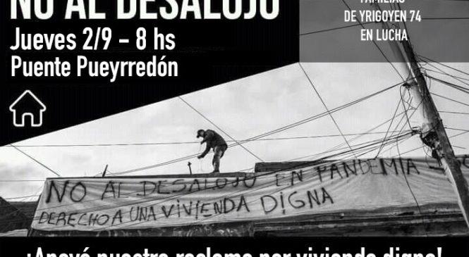 Corte en contra del desalojo de familias de Yrigoyen 74