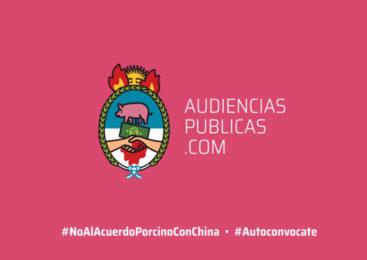 Se viene la Primera Audiencia Pública Autoconvocada sobre el Acuerdo Porcino con China