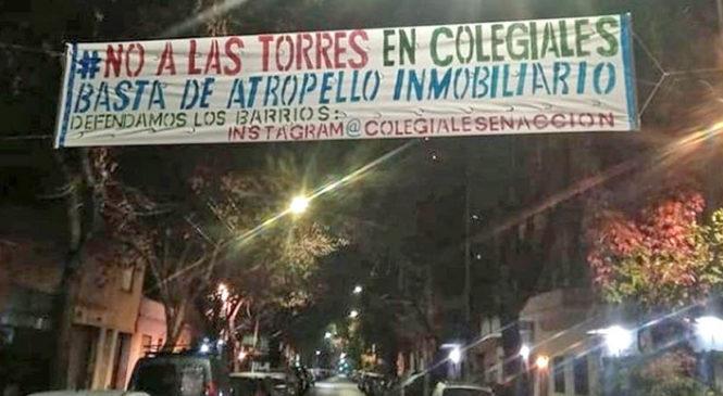 Una constructora privada hostiga a vecinos de Colegiales que se oponen al levantamiento de Torres
