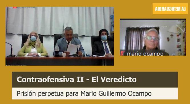 Perpetua en cárcel común para Ocampo en Contraofensiva II