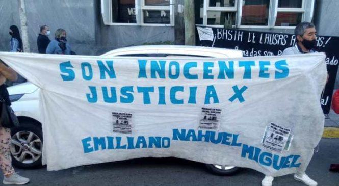 Jornada frente a tribunales de La Matanza: familiares de tres jóvenes denuncian una causa armada para imputarles un homicidio