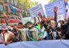 Movilización de pueblos originarios por la prórroga de la ley 26.160